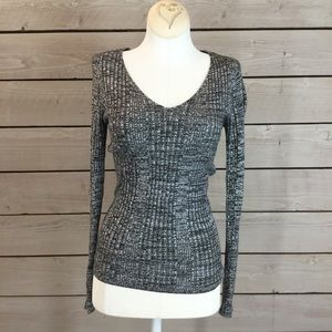 NWT Ambience Dark Grey Long Sleeve Sweater